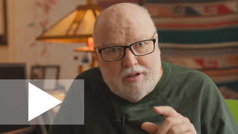 An image of Richard Rohr speaking in his chair about the 2020 Daily Meditation Theme. The image links to a video.