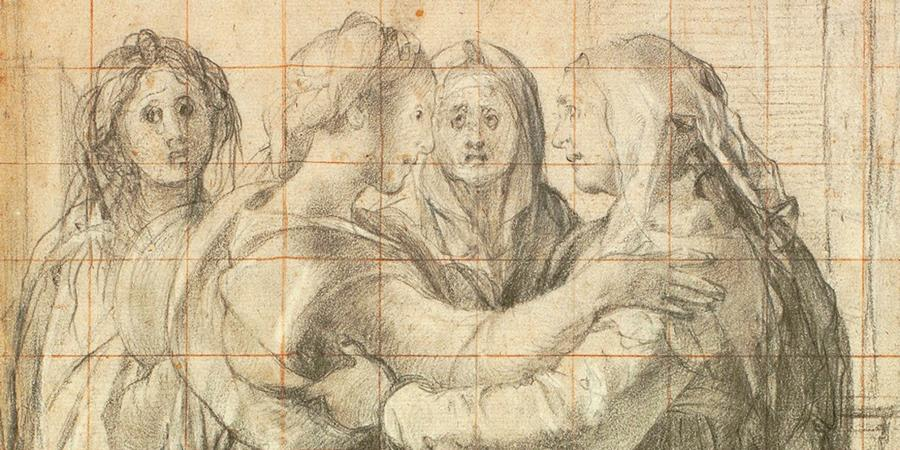 Image credit: Study for the Visitation (detail), Jacopo Pontormo, circa 1528, Uffizi Gallery, Florence, Italy.